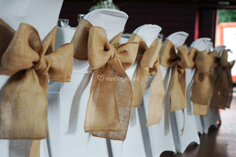 Location par ccm mariage - Noeud pour chaise de mariage ...