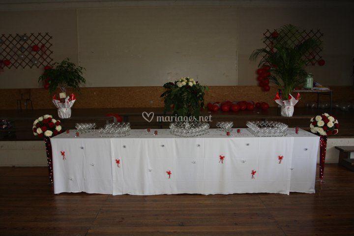 Table vin d'honneur