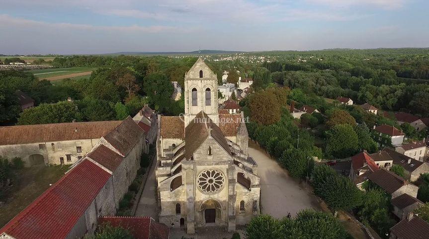 Eglise vue drone