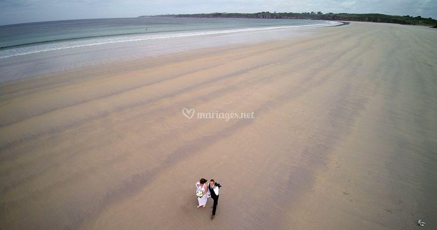 Photos aériennes sur la plage