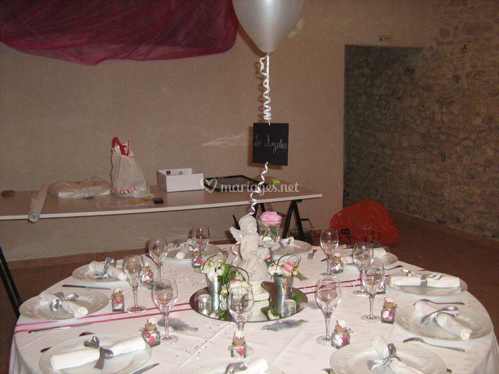 Decoration de table romantique