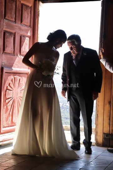 La Mariée avec son Papa