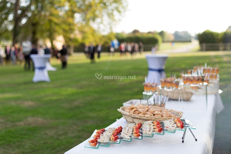 Buffet en plein air