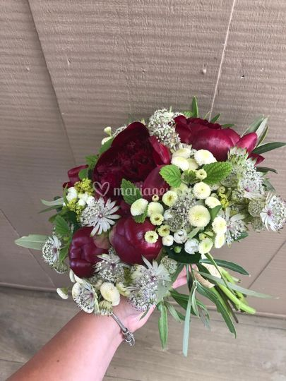 Bouquet rond fleuriste Morbiha