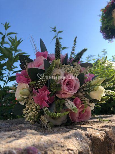 Bouquet mariée nature et sens