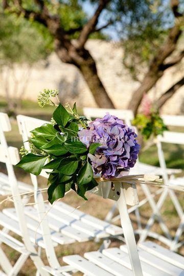 Décoration florale des chaises