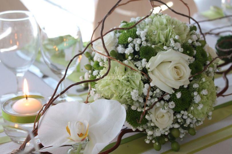 Création florale - table