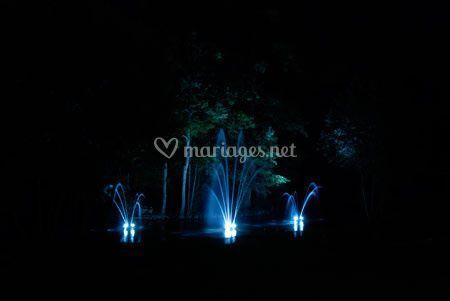 Fontaines de lumière inclus