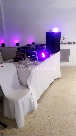 Présentation table DJ