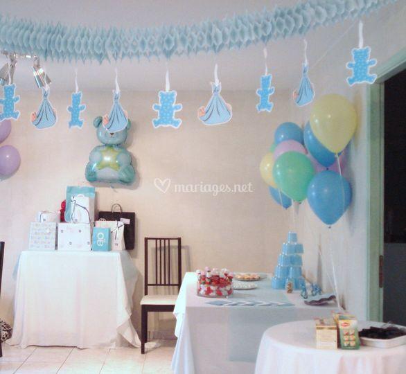 Babyshower salle décorée