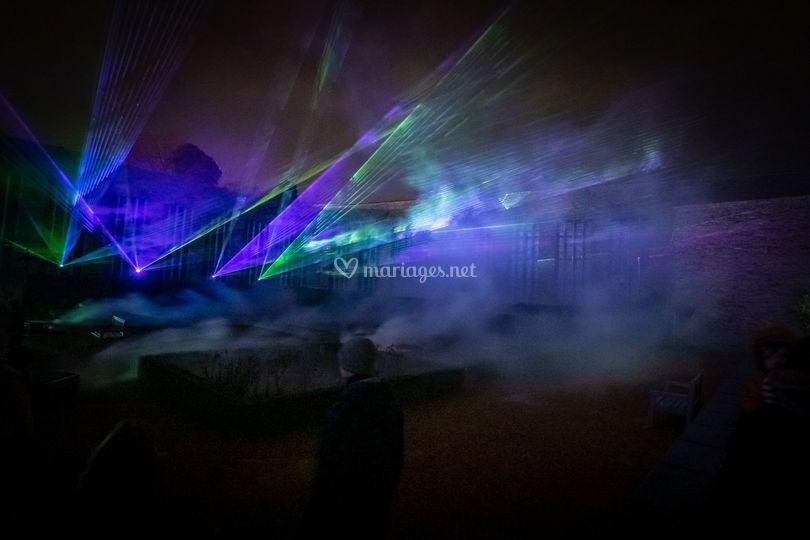 Show laser extérieur