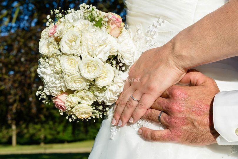 Séance photos des mariés
