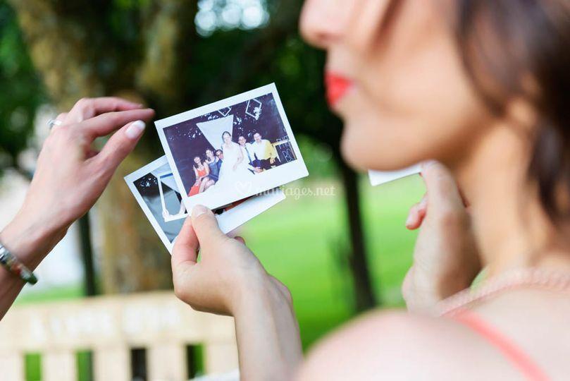 Séance photos avec polaroid