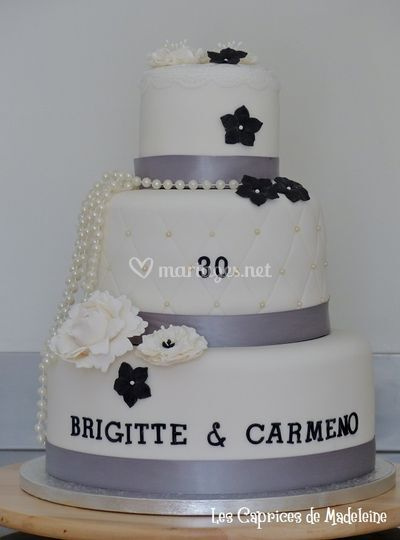 Wedding cake noces de perles