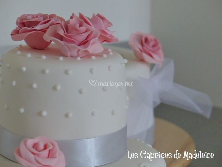 Wedding cake vieux rose