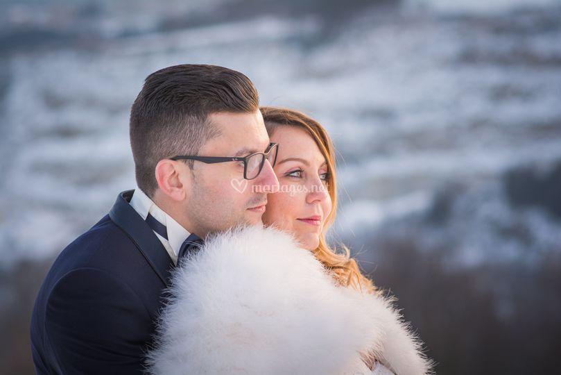 Les mariés sur Julien Provenzano