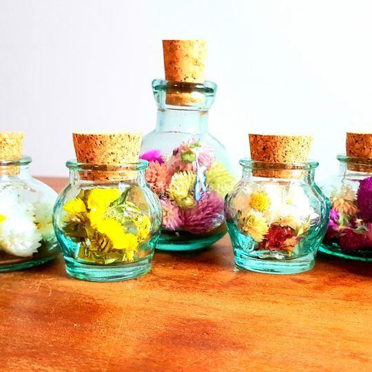 Minis pots fleuris