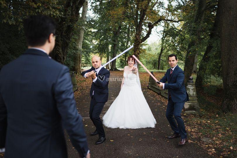 Une mariée bien protégée