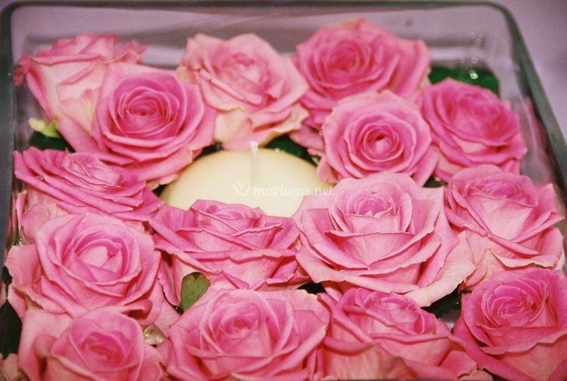 Mariage couleur rose