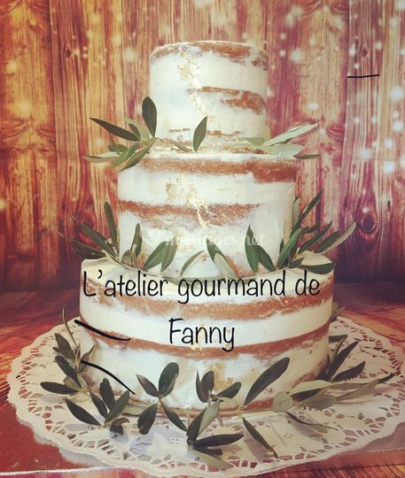Nude cake Olivier et Or