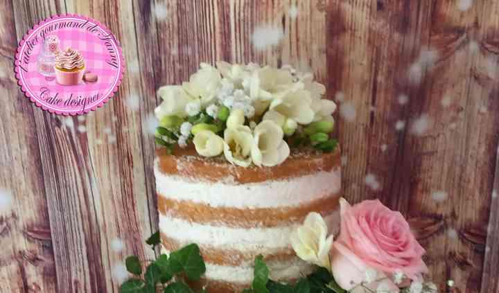 Nude Cake Fraises