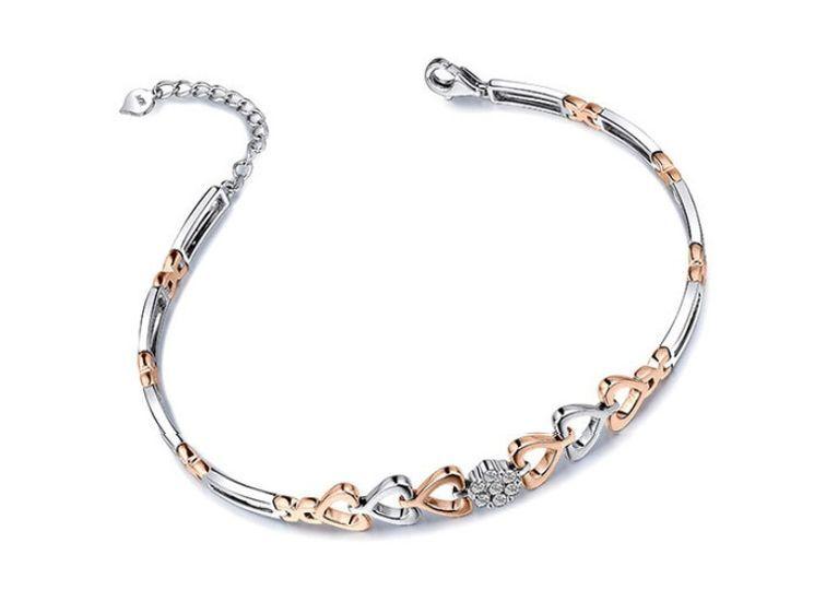 Bracelet 2 ors et diamant