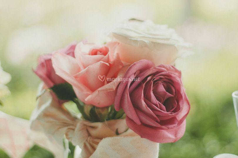 Bout de banc rose