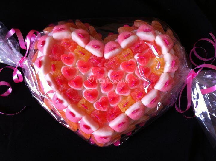 Petit coeur de bonbons