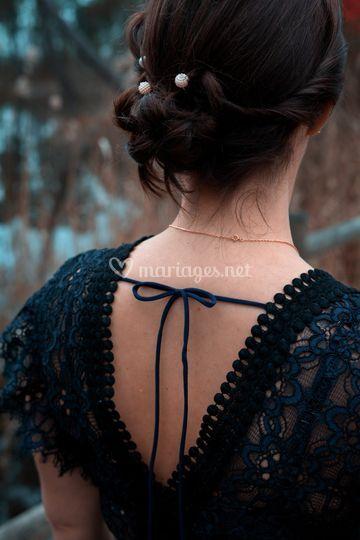 Un cou, une robe, une mariée