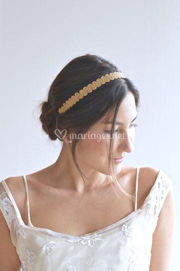Headband doré opaque