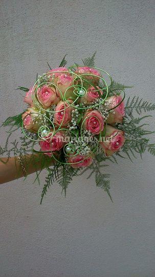 Bouquet de roses rond