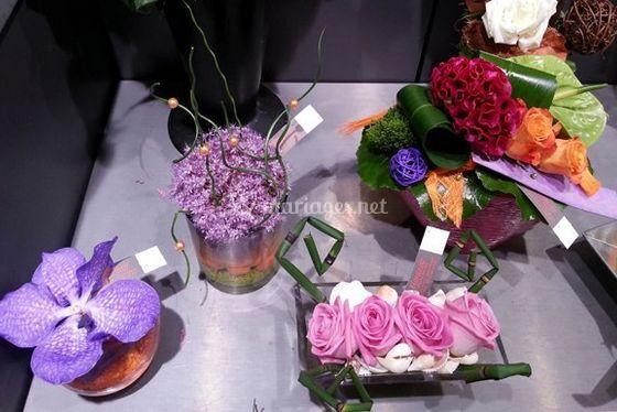 Compositions de fleurs diverses