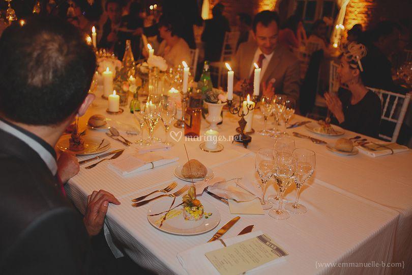 La mise en table de mariage