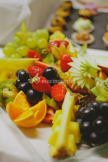 Quelques fruits découpés