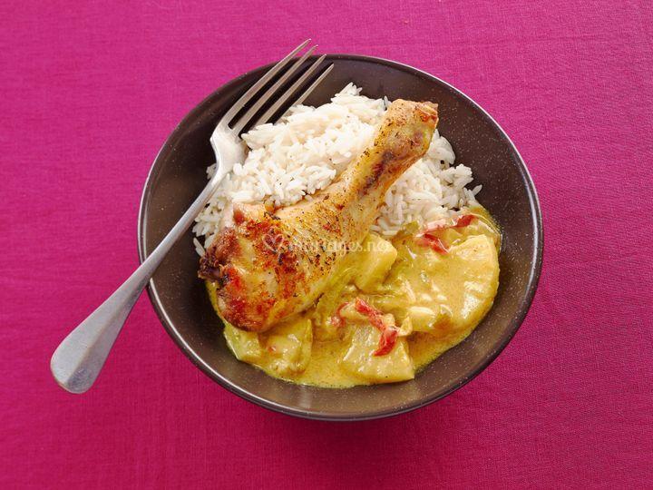 Curry doux poulet