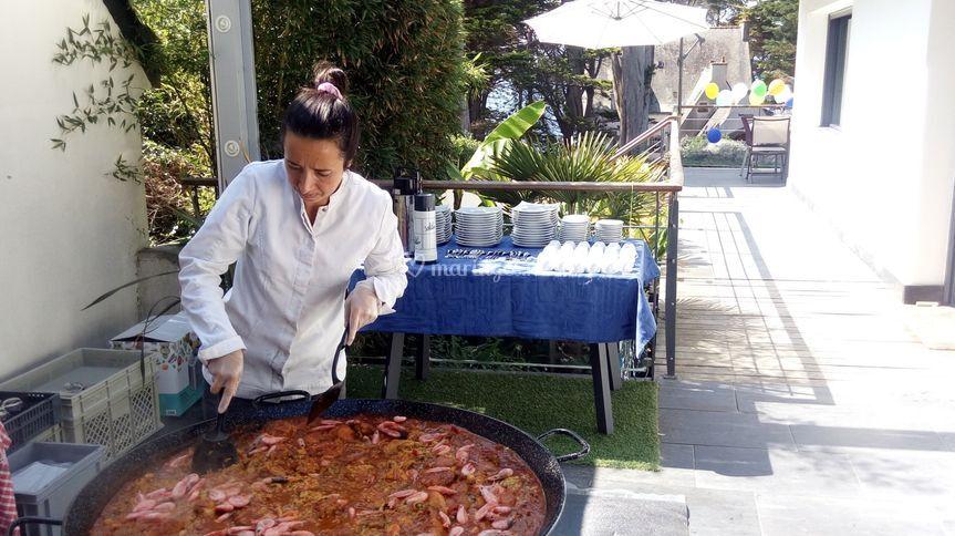 Paella à domicile