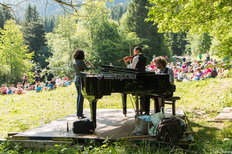 Trio hautbois, violon et piano