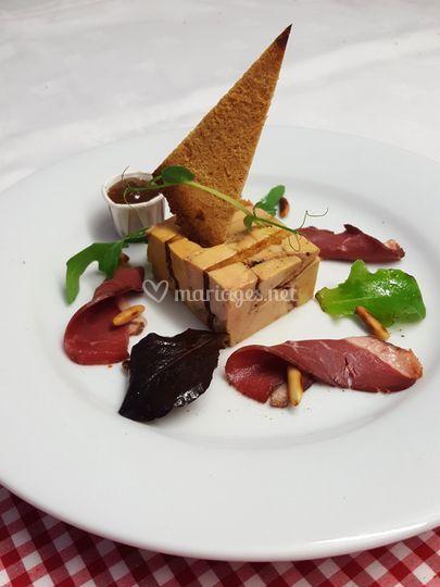 Terrine foie gras au pain d'épices