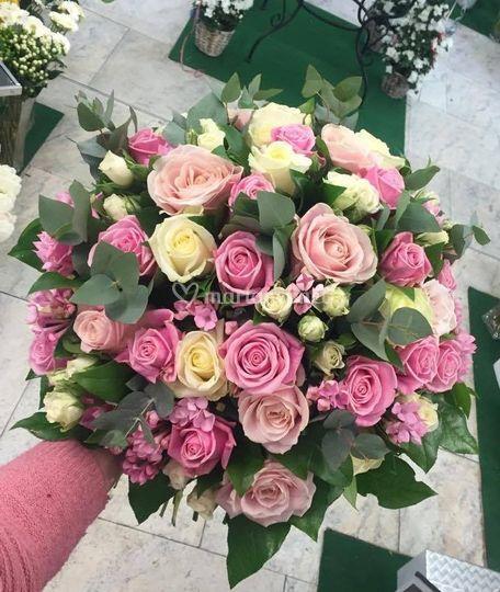 Bouquet rose rond