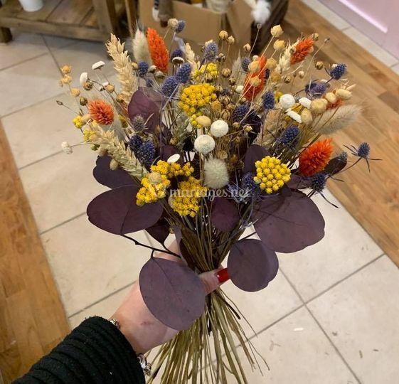 Bouquet de mariée séchées