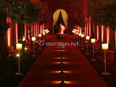 Réception de salle de mariage