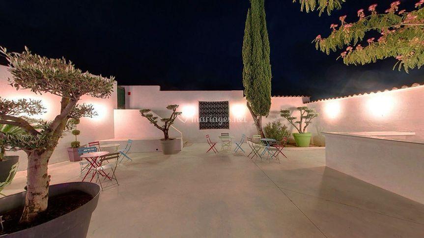 Ambiance patio, extérieur nuit