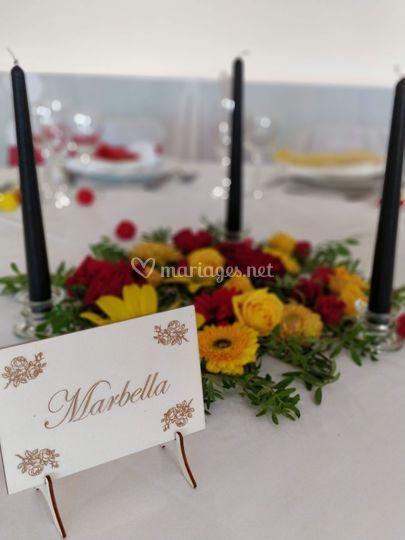 Table - mariage espagnol