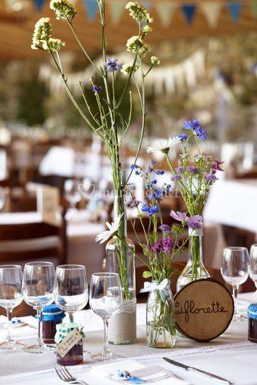 Fleurs de table champêtre