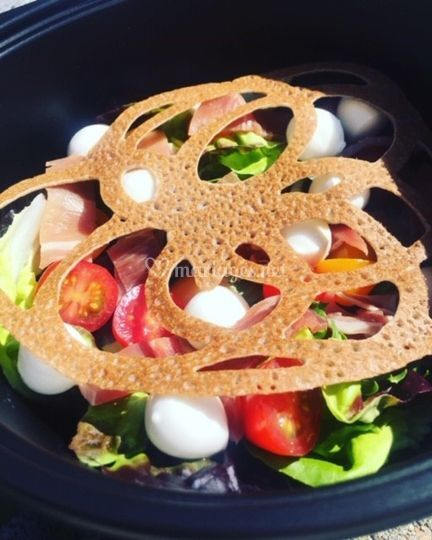 Salade, rosace de sarrasin