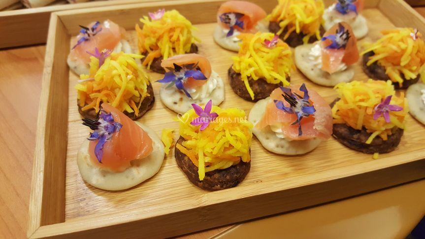 Les fleurs dans l'assiette