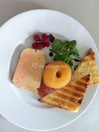 Assiette de foie gras maison