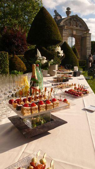 Cocktail jardin à la française