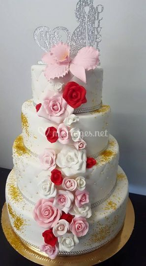 Wedding rose et or