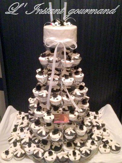 Pièce montée cupcakes